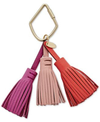 Fossil Tassel Leather Bag Charm