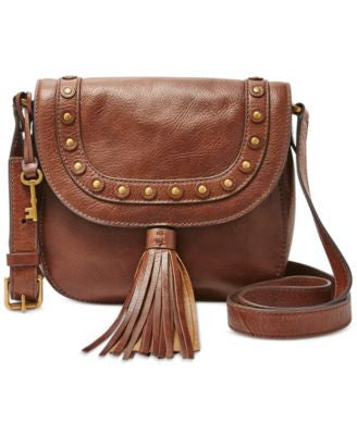 Fossil Emi Embellished Leather Saddle Bag