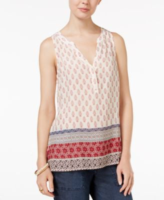 Sanctuary Mori Sleeveless Mixed-Print Top