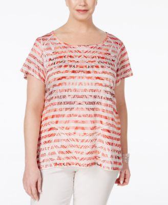 Style & Co. Plus Size Printed High-Low Top, Only at Vogily