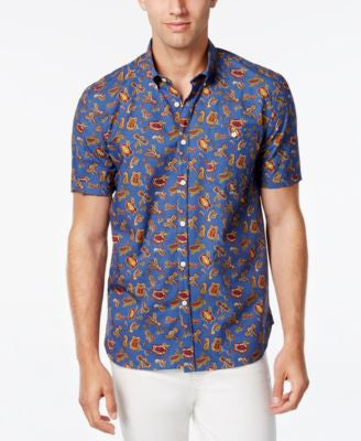 Barbour Men's Dragonfly Paisley Short-Sleeve Shirt