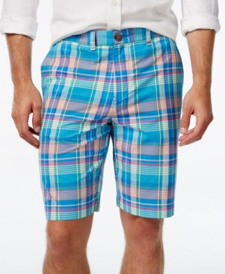 Tommy Hilfiger Men's Haaz Classic-Fit Madras Plaid Shorts