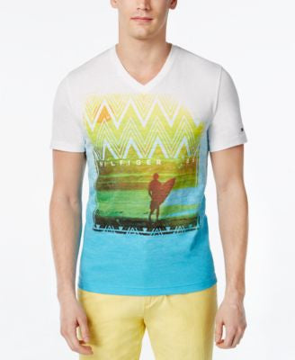 Tommy Hilfiger Men's Point Break Graphic-Print V-Neck T-Shirt