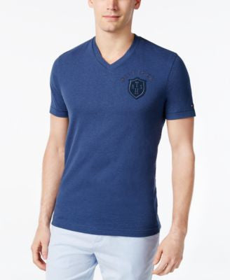Tommy Hilfiger Men's Docking Embroidered Logo V-Neck T-Shirt