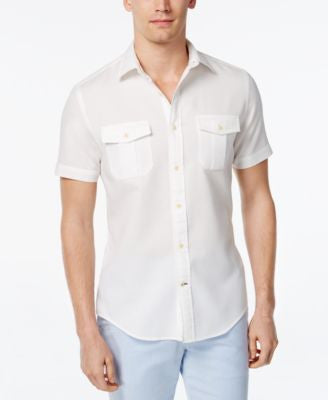 Tommy Hilfiger Men's Frank Dobby Short-Sleeve Shirt