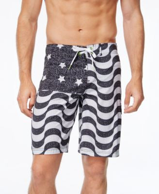 Speedo Men's Flag Print Board Shorts