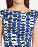 American Living Geometric-Print Jersey Dress