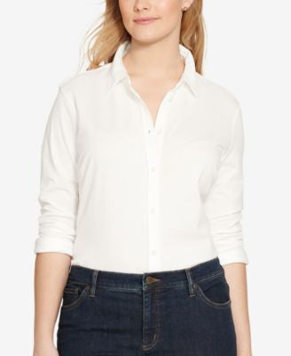 Lauren Ralph Lauren Plus Size Long-Sleeve Shirt