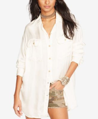 Denim & Supply Ralph Lauren Satin Military Shirt