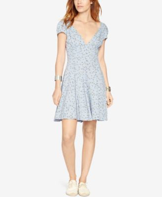 Denim & Supply Ralph Lauren Floral-Print V-Neck Dress