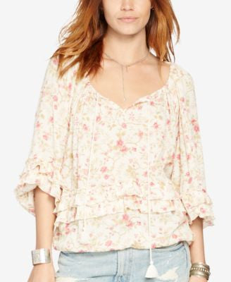 Denim & Supply Ralph Lauren Floral-Print Boho Top
