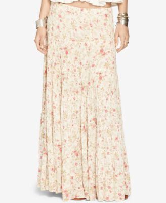 Denim & Supply Ralph Lauren Floral-Print Gauze Tiered Maxi Skirt