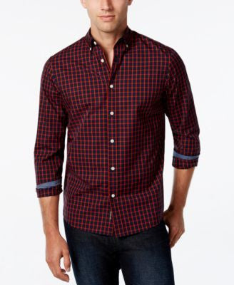 Michael Kors Men's Checked Long-Sleeve Shirt