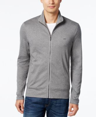 Michael Kors Men's Zip-Front Reflective Trim Knit
