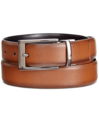Alfani Men's Big & Tall Feather-Edge Reversible Belt, Only at Vogily