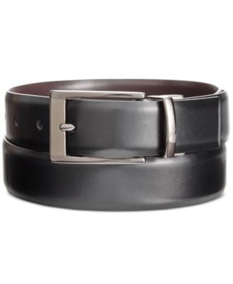 Alfani Men's Big & Tall Reversible Grained Belt, Only at Vogily