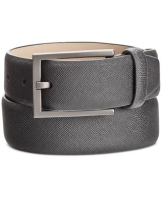 Alfani Men's Saffiano-Finish Reversible Belt, Only at Vogily