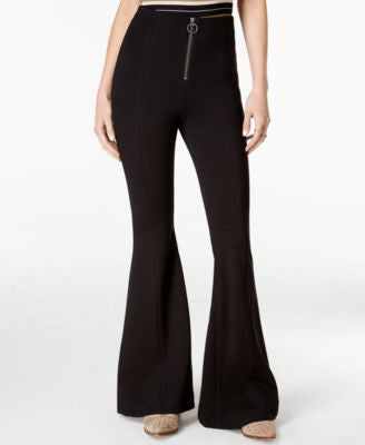 Free People Born To Be Wild Black Wash Flare-Leg Jeans