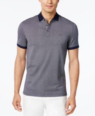 Michael Kors Men's Dot Grid Contrast Trim Polo