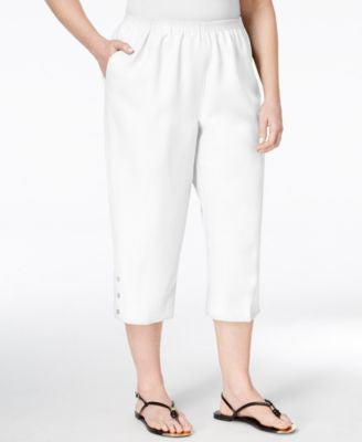 Alfred Dunner Plus Size Classics Collection Capri Pants