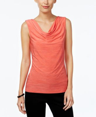 Tahari ASL Sleeveless Cowl-Neck Top