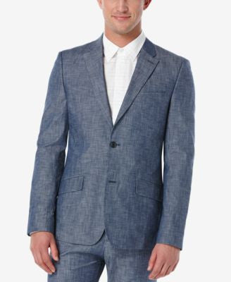 Perry Ellis Men's Slim-Fit Denim Sport Coat