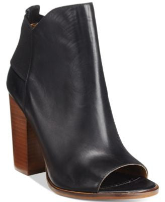 Kelsi Dagger Brooklyn Gemma Peep-Toe Block-Heel Booties