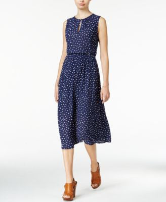 Maison Jules Printed Keyhole Midi Dress, Only at Vogily