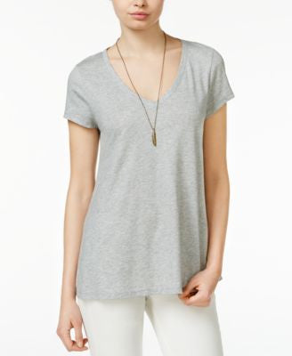 Maison Jules Metallic V-Neck T-Shirt, Only at Vogily