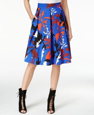 RACHEL Rachel Roy Printed Pleated Skirt, Only at Vogily