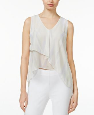 RACHEL Rachel Roy Printed Asymmetrical Top