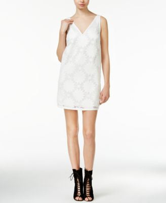 RACHEL Rachel Roy Embroidered Mesh Shift Dress