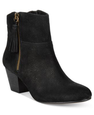 Nine West Hannigan Fringe Block-Heel Booties