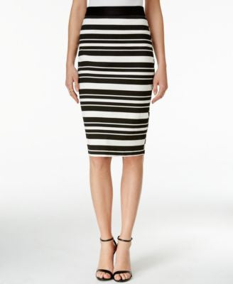 Bar III Striped Pencil Skirt, Only at Vogily