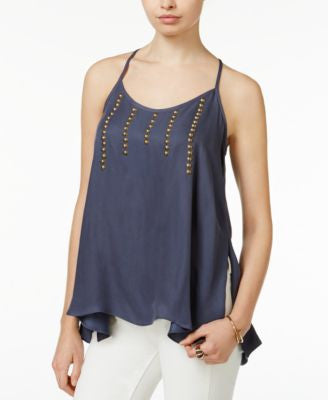 Bar III Embellished Swing Top, Only at Vogily