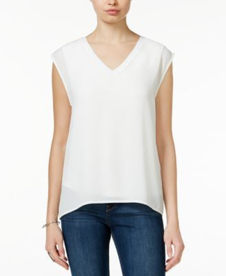 Bar III Illusion Cap-Sleeve Top, Only at Vogily