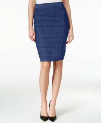 Bar III Crocheted Pull-On Pencil Skirt, Only at Vogily