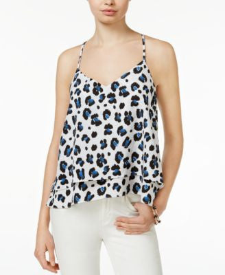 Bar III Tiered Animal-Print Top, Only at Vogily