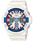 G-Shock Men's Analog-Digital White Resin Strap Watch 55x51mm GA120TR-7A