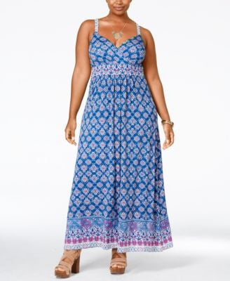 American Rag Trendy Plus Size Printed Maxi Dress, Only at Vogily