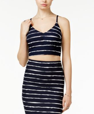 Bar III Striped Crop Top, Only at Vogily