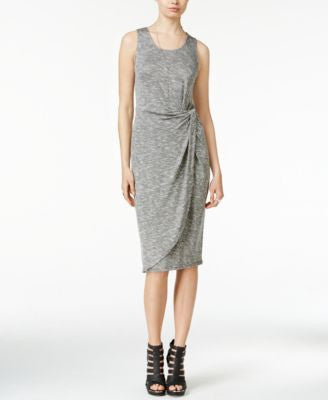 Bar III Heathered Knotted Sheath Dress, Only at Vogily