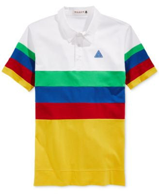 Black Pyramid Men's Multicolor Stripe Polo