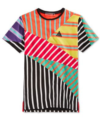 Black Pyramid Men's Pieced Mixed-Stripe T-Shirt