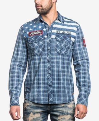 Affliction Men's Long-Sleeve American Brave Shirt
