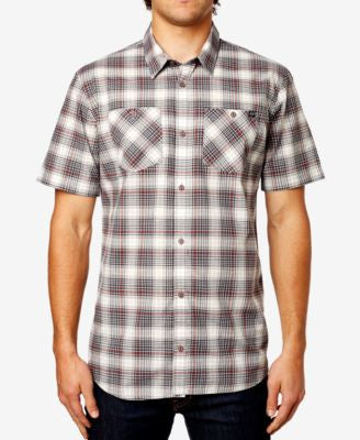 Fox Men's Short-Sleeve Plaid-Print Shirt