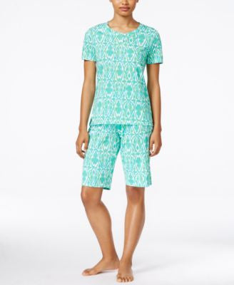 Lauren Ralph Lauren Print T-Shirt and Bermuda Shorts Pajama Set