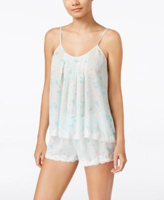 Flora by Flora Nikrooz Printed Chiffon Cami and Shorts Set
