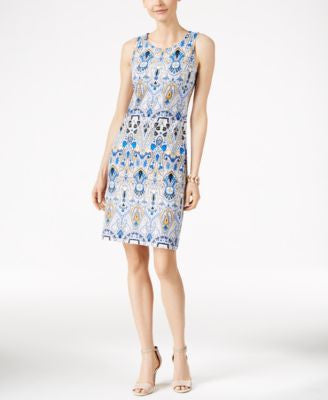 Charter Club Printed Shift Dress, Only at Vogily