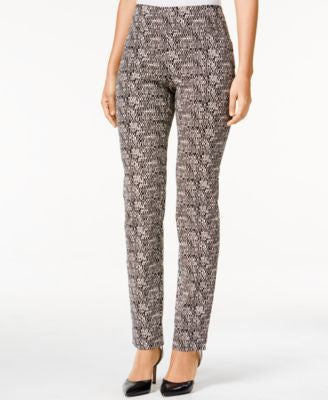 Charter Club Cambridge Printed Straight-Leg Pants, Only at Vogily